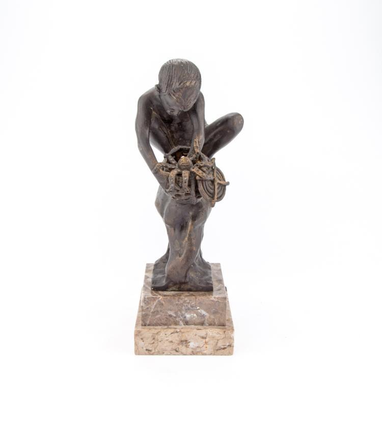 ACHILLE D'ORSI | NAPOLI 1845-NAPOLI 1929 | Il Pescatore di Granchi. | The Crabs Fisherman