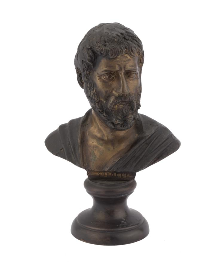 Busto di Sofocle. | Bust of Sophocles.