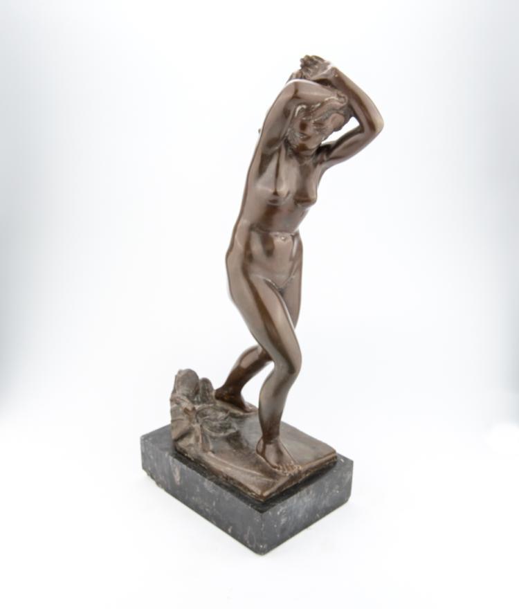 ERNESTO VIGHI   SAN SECONDO PARMENSE 1894-PARMA 1950   Eva cacciata dal Paradiso Terrestre.   Eve expelled from Paradise