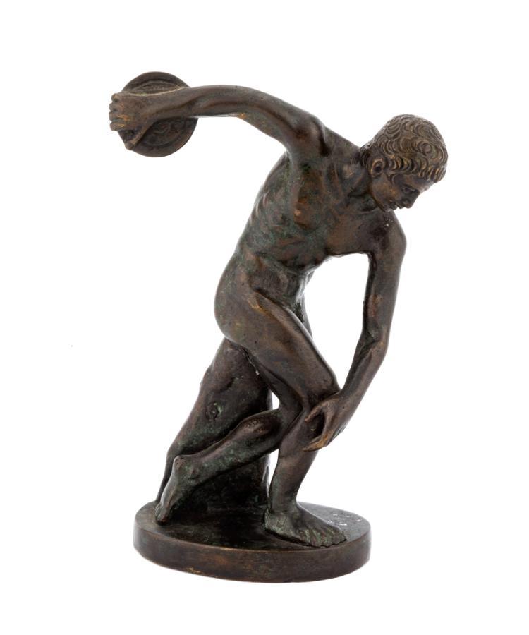 Discobolo. | Discus thrower.