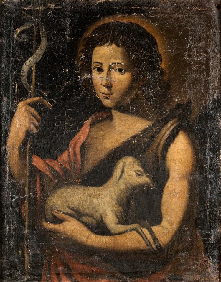 PITTORE DEL XVIII SECOLO San Giovanni Battista. | St. John Baptist.