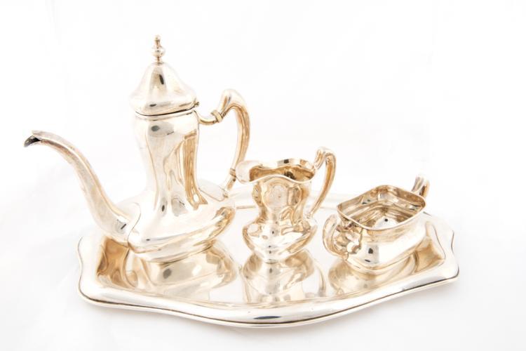 Servizio da caffè Tiffany in argento | Tiffany silver coffee set