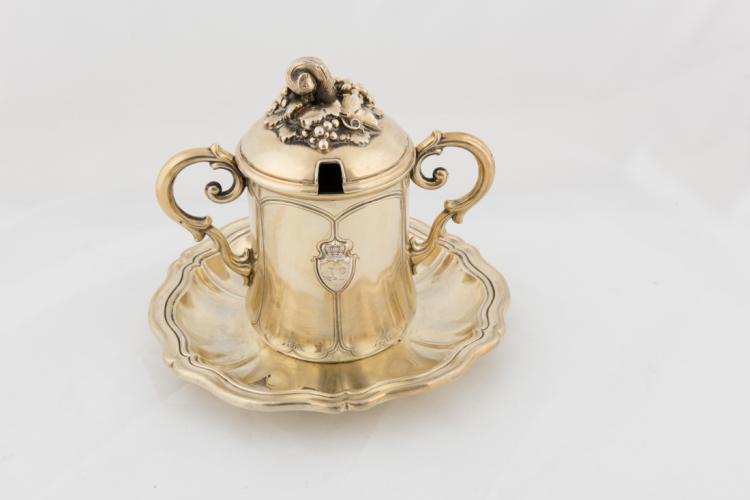 Mostardiera in argento vermeille | Fine Mostardiera in vermeille silver.