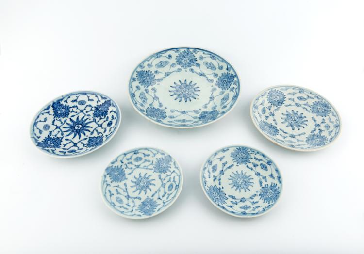 Piatti in celadon, Cina ultima dinastia. | Celadon dishes, China last dynasty.