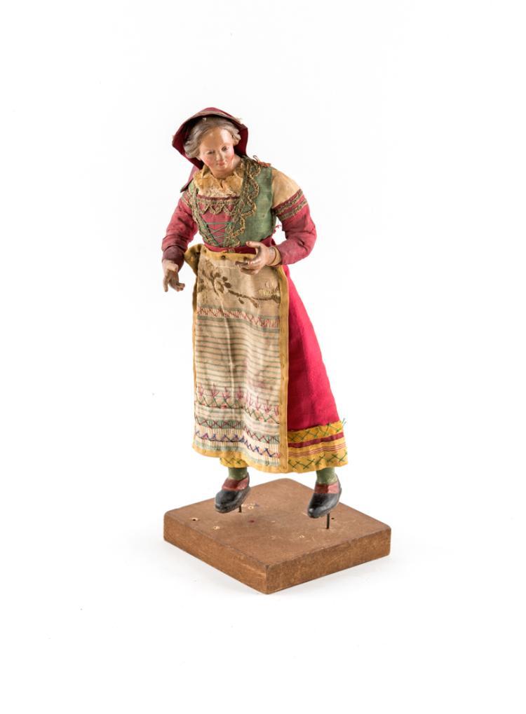 Popolana con fazzoletto rosso in testa | Plebain with red headscarf