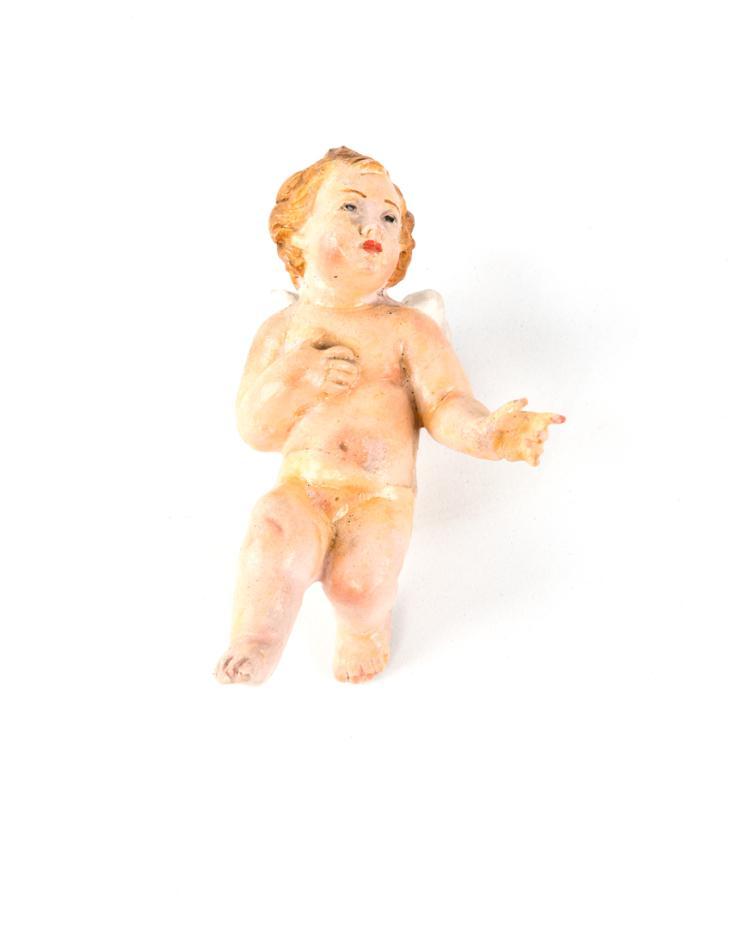 Puttino in terracotta policroma | Puttino polychrome terracotta