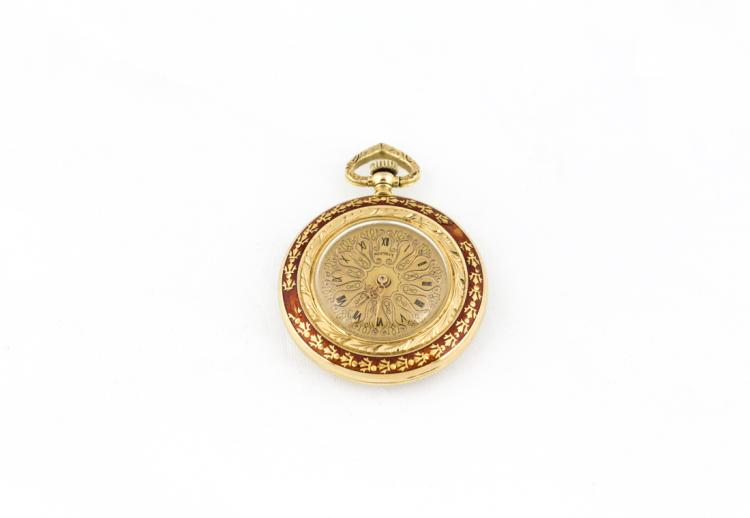 Orologio da tasca in oro e smalti | Pocket watch, gold and enamels