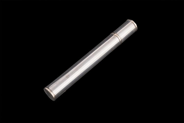 Portasigaro in argento marcato Bulgari | Bulgari silver cigar holder