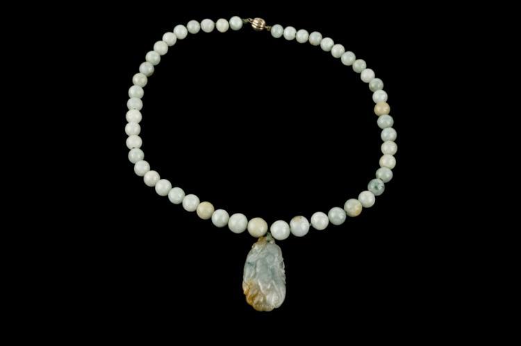 Collana di giada con pendente | Jade necklace with pendant