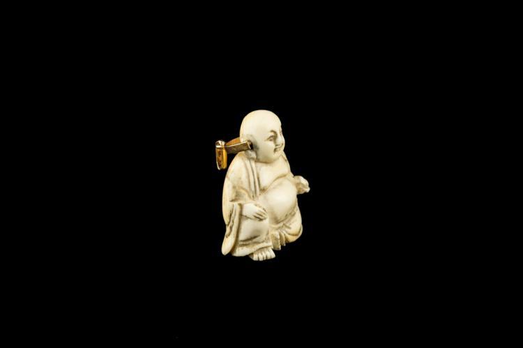 Ciondolo in avorio Buddha Maitreya | Maitreya Buddha pendant ivory