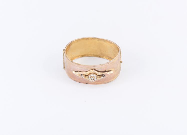 Bracciale schiava | Gold rigid bracelet