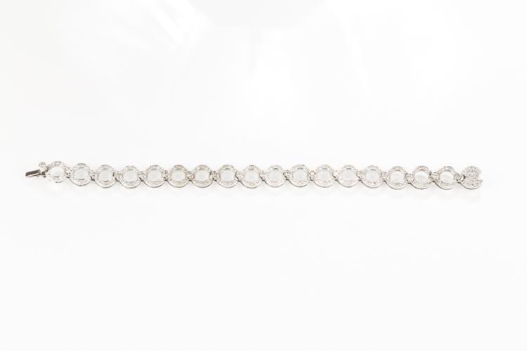 Bracciale in oro bianco con tondi in brillanti | Bracelet in white gold with round brilliant in