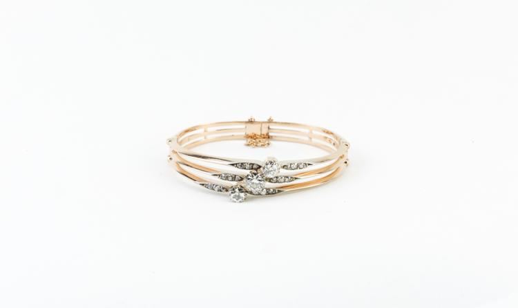 Bracciale in oro rosa e diamanti | Rose gold bracelet with diamonds