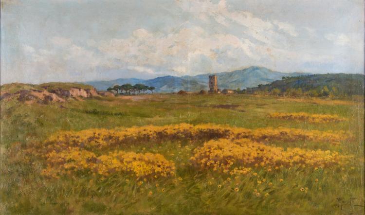 FILIPPO ANIVITTI | ROMA 1876-ROMA 1955 | Campagna romana | Roman countryside