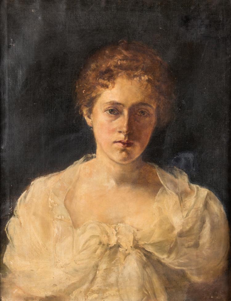 PITTORE DEL XIX SECOLO Ritratto di giovane donna | Portrait of young woman