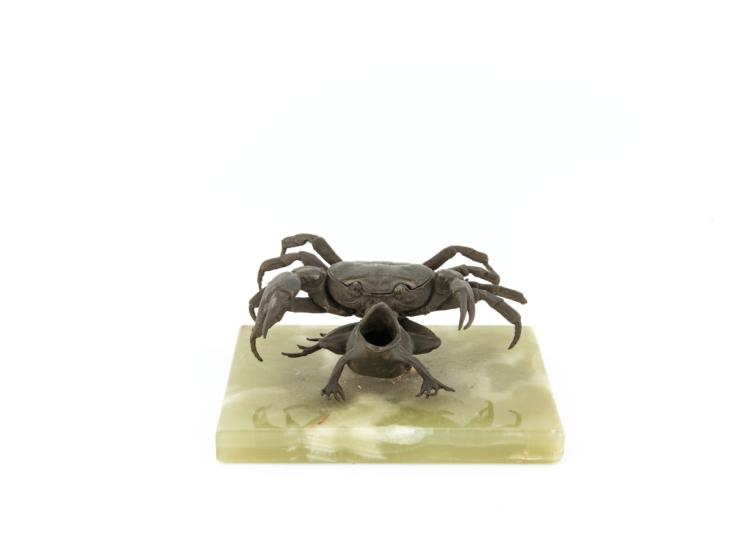 Il granchio sopra la rana | The crab on the frog