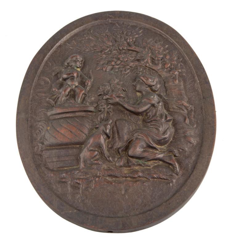 Scena classica, bassorilievo in bronzo | Classic scene, bronze bas-relief