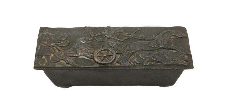 Modello di sarcofago in bronzo | Model of bronze sarcophagus
