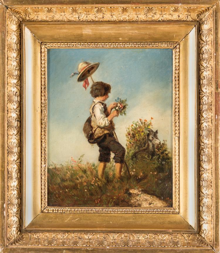 PITTORE DEL XIX SECOLO Giovane pastorello | Young shepherd