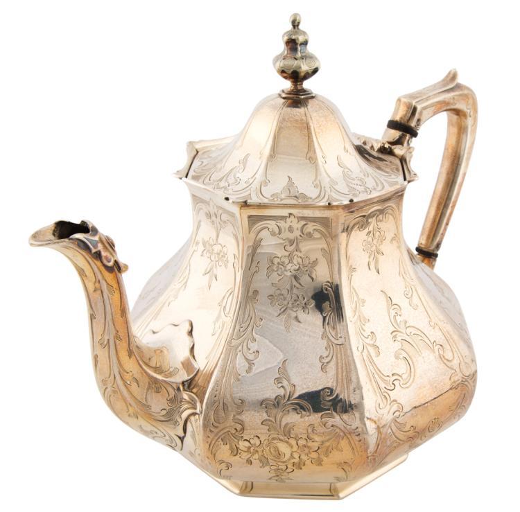 Teiera ottagonale in argento | Silver octagonal teapot