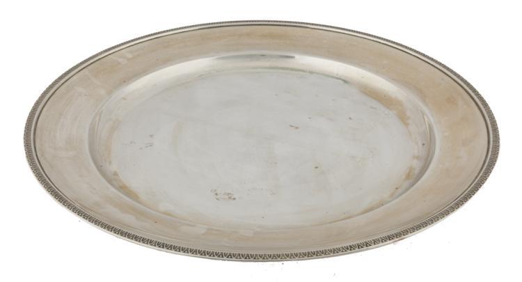 Piatto tondo in argento | Silver round plate