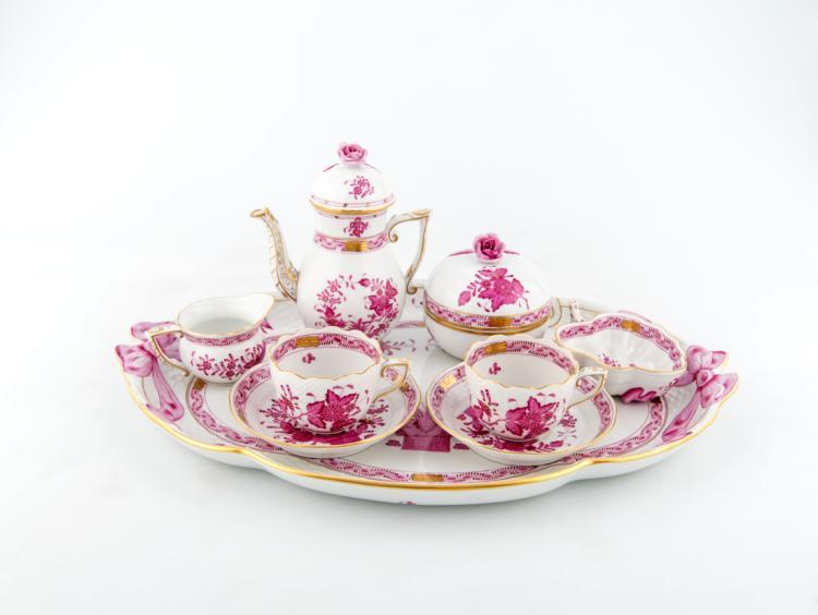 Servizio da caffè Téte a Téte in porcellana, Herend XX secolo | Coffee service Téte a Téte porcelain, Herend XX Century