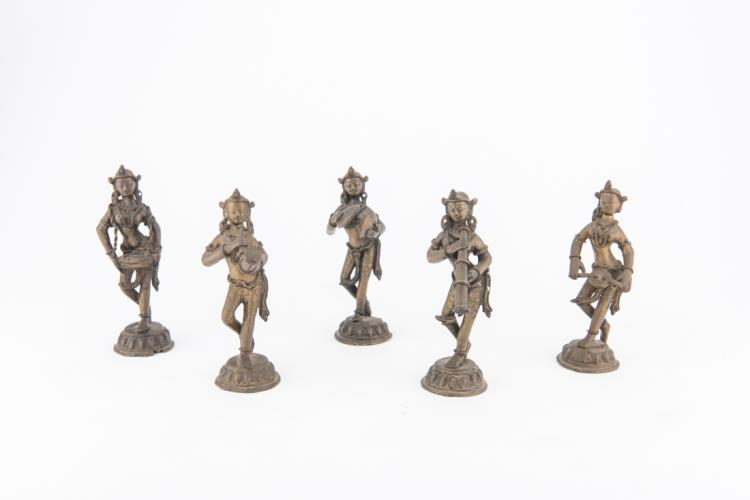 Gruppo di cinque musicisti in bronzo | Group of five bronze musicians