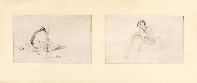 DOMENICO MORELLI | NAPOLI 1826-NAPOLI 1901 | Studio di Donna | Women protrait