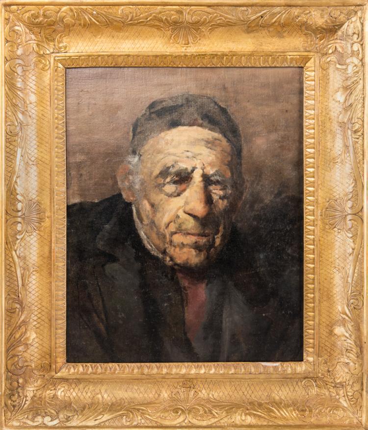 SCUOLA NAPOLETANA DEL XIX SECOLO Ritratto senile   Portrait of an old man