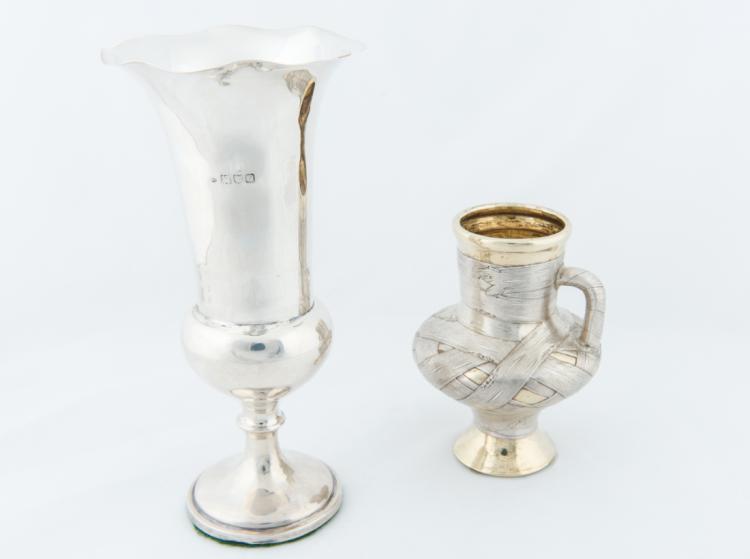 Raffinata anforetta in argento, arte russa XIX secolo. | Fine silver amphora, Russian art XIX Century.