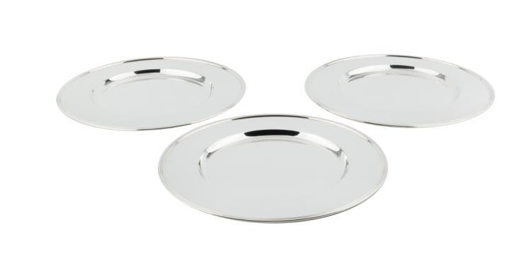Set di dodici sottopiatti in argento | Set of silver plates