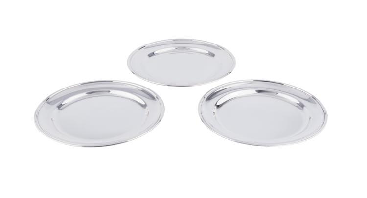 Set di dodici piatti in argento | Set of twelve silver dessert dishes Total 2244 g d. 21 cm Angeletti Rome