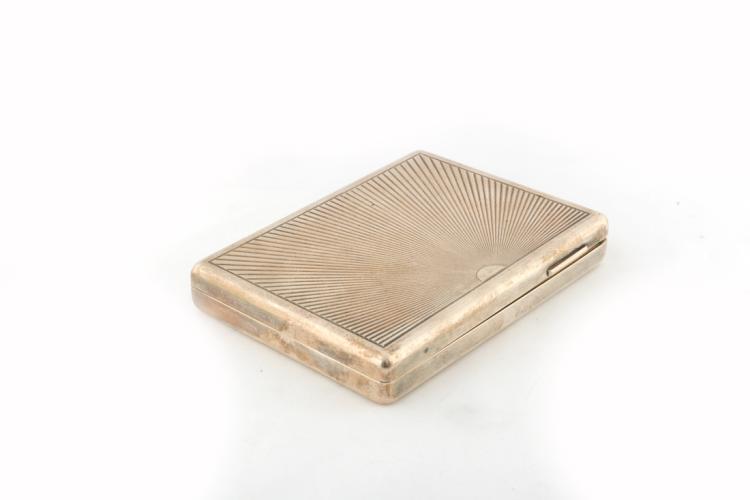 Scatola portasigari in argento recante bolli Firenze | Silver cigar box, Florence hallmarks