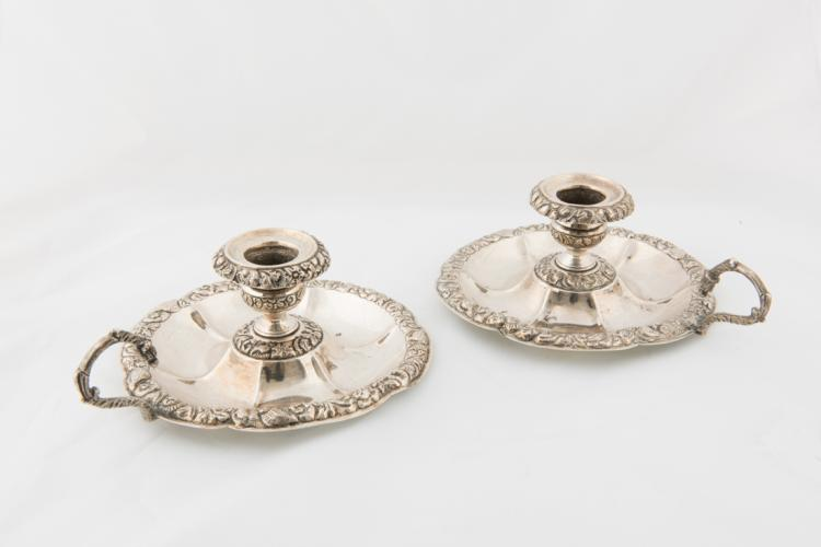Coppia di bugie in argento | Pair of silver bowls