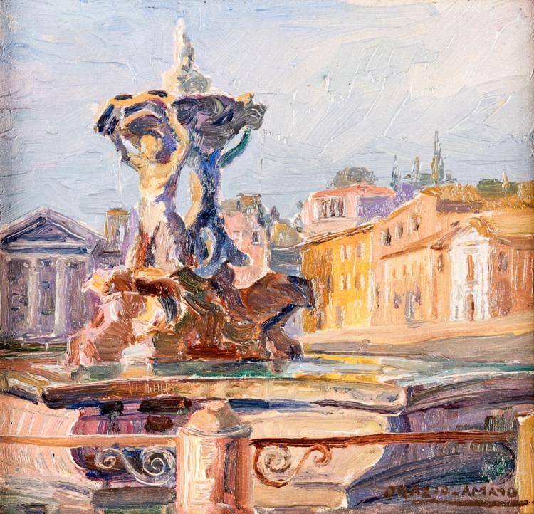 ORAZIO AMATO | ANTICOLI CORRADO 1884-ROMA 1952 | Fontana di piazza della Rotonda, Roma | Fontana del Pantheon, Rome
