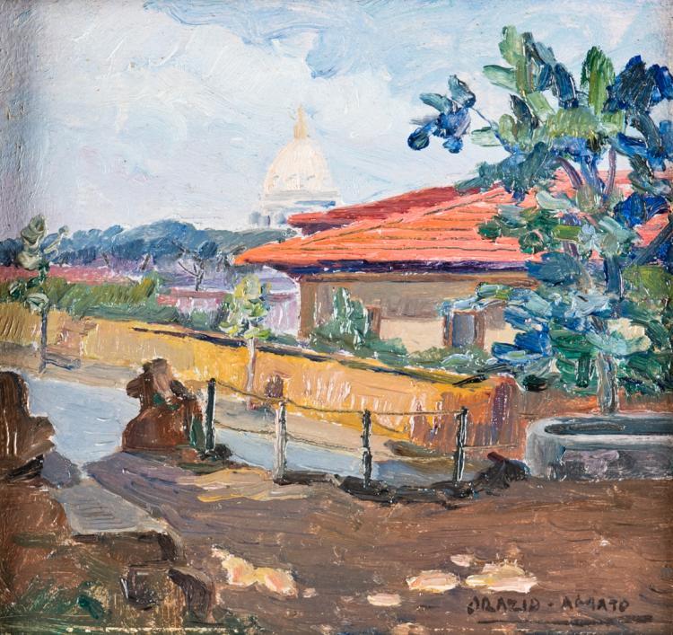 ORAZIO AMATO | ANTICOLI CORRADO 1884-ROMA 1952 | Scorcio di Roma | View of Rome