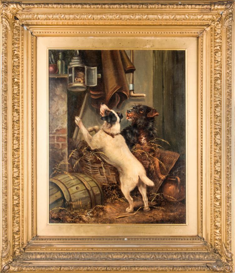 EDWARD ARMFIELD | INGHILTERRA 1817-INGHILTERRA 1896 | Caccia al topo | Mouse hunt
