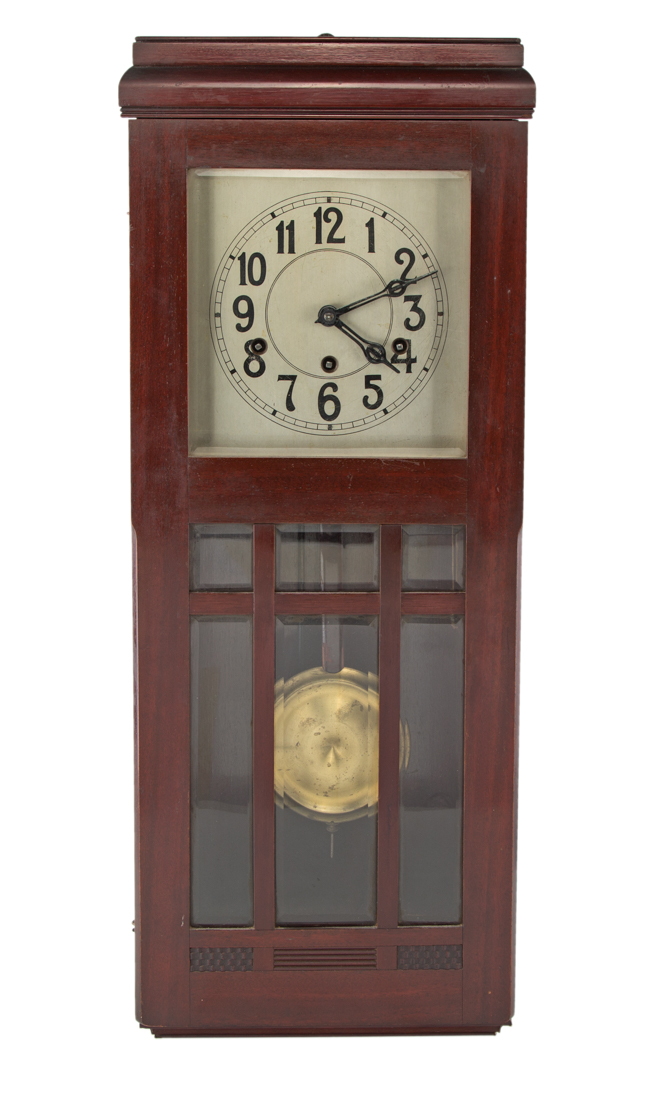 Pendola da muro in mogano, XX secolo | Wall clock in mahogany, XX Century