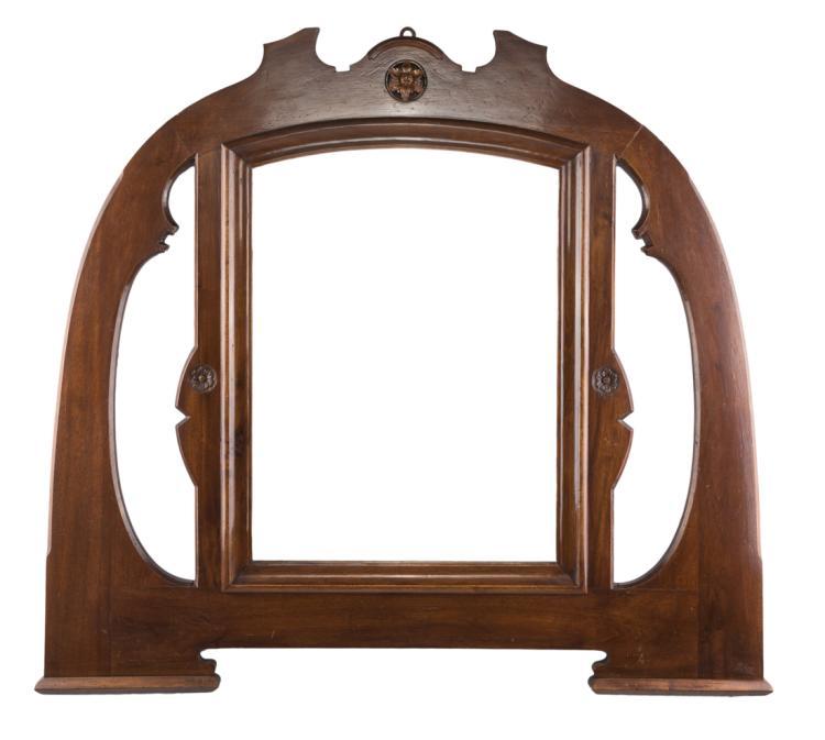 Specchiera in noce, in stile liberty | art nouveau Mirror in walnut, art nouveau