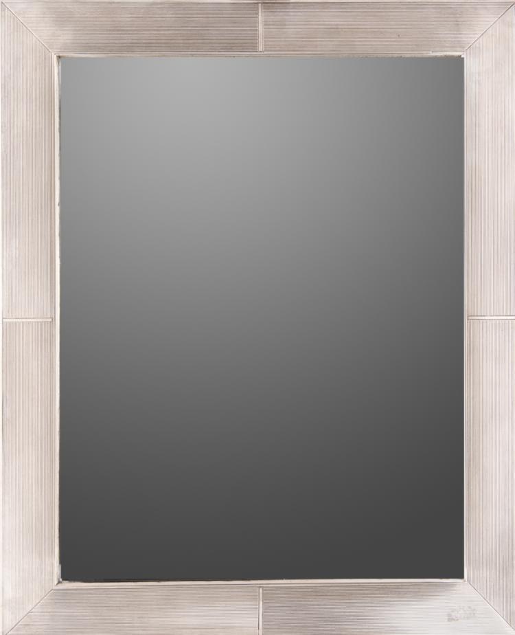Specchiera con cornice rivestita in argento, periodo liberty  | Art Nuveau Mirror with frame covered in silver,