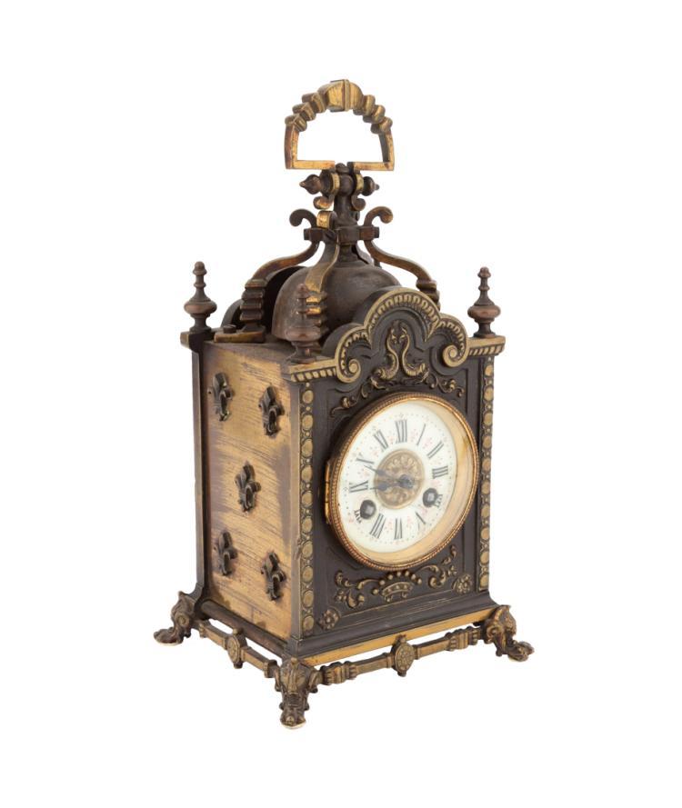 Piccola pendola in bronzo | Small clock in bronze