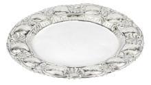 | Piatto in argento | Baroque style silver Plate