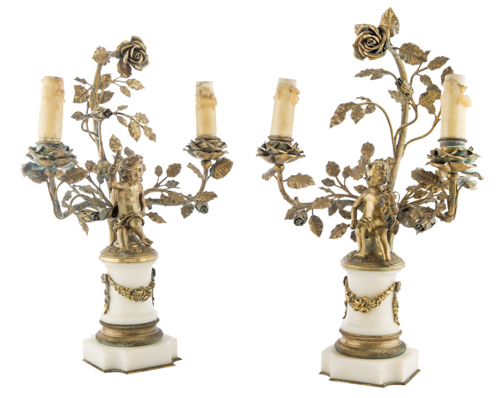 | Coppia di candelabri in stile impero | A pair of French Candlesticks