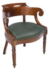 | Poltroncina in mogano a pozzetto | French Mahogany Armchair