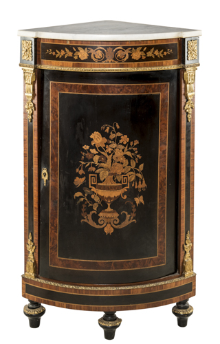 | Angoliera Napoleone III | Napoleon III Corner Table with marble top