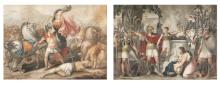 | Tre incisioni ad acquatinta con scene dell'Antica Roma | Three aquatint etchings with Ancient Rome History