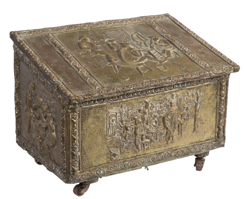 | Carboniera in ottone | Nineteenth Century Coal brass Box