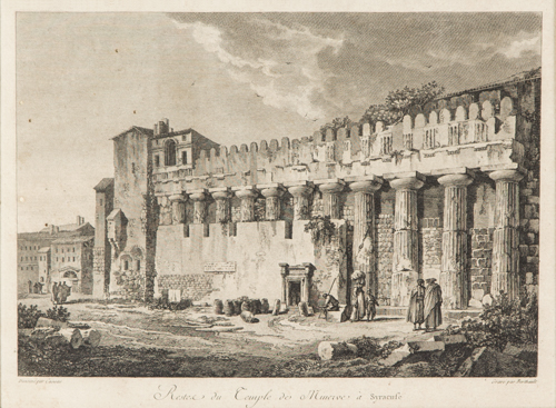 | Sei Acqueforti Vedute di Siracusa | Six etchings with views of Syracuse