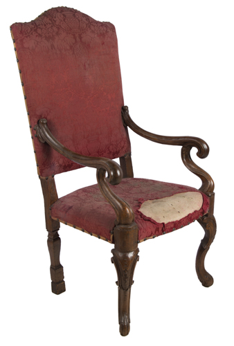 | Poltrona in noce Roma XVIII secolo | Eighteenth Century walnut Roman Armchair