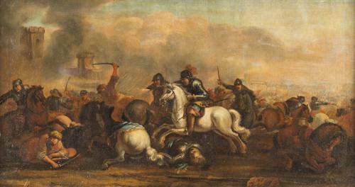 Masturzio Marzio, circa 1670, Attribuito a | Scena di Battaglia | Battle